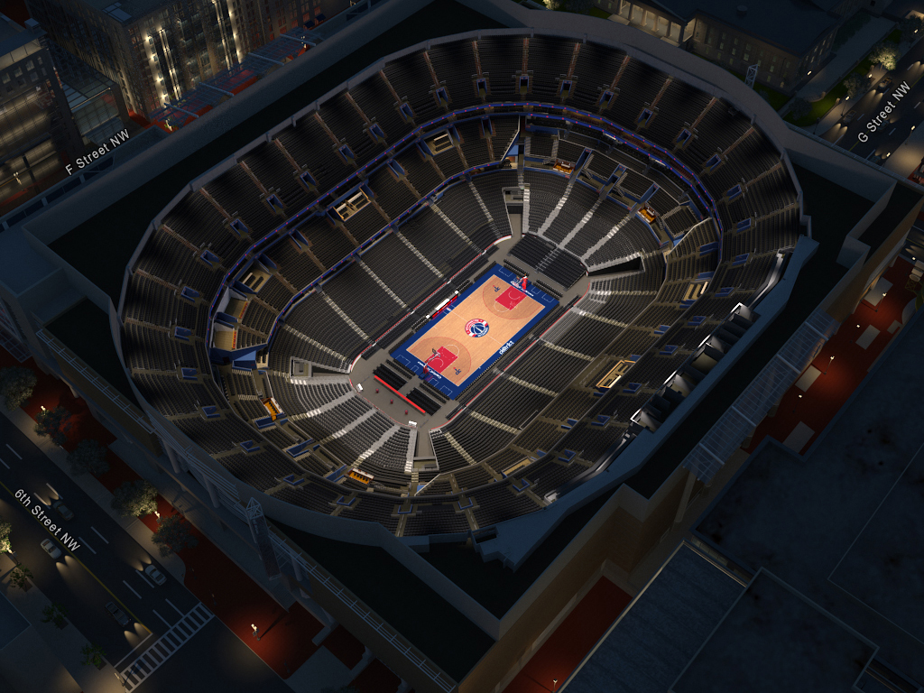 Washington Wizards Virtual Venue By IOMEDIA - Verizon center seating map